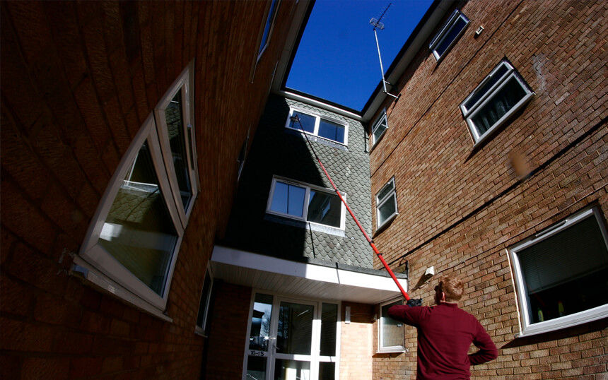 Fascia and soffit cleaning in West Wickham from the Croydon Window Cleaner